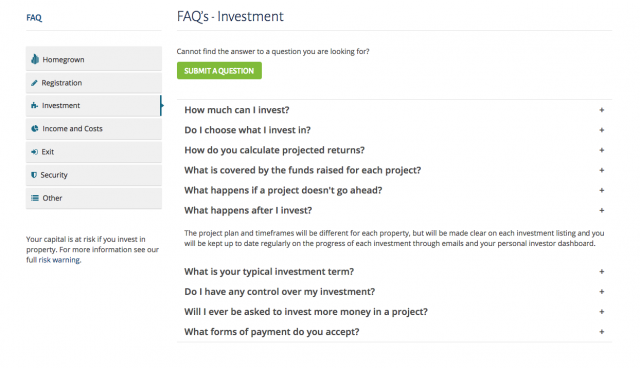 Investment FAQ
