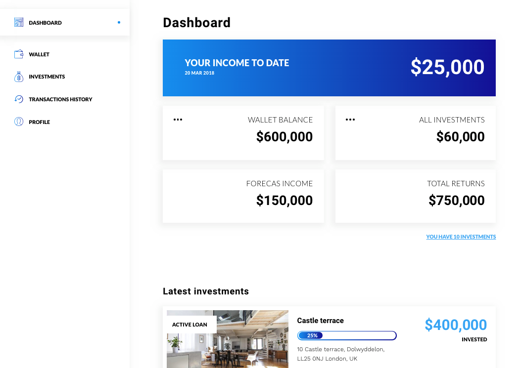 white label crowdfunding platform investor dashboard