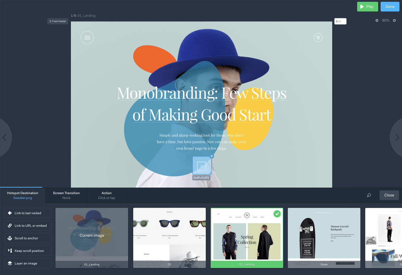 Marvelapp – tools for mockuping