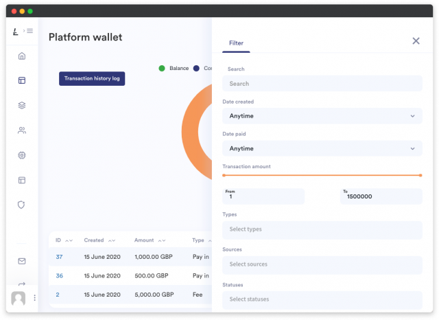 LenderKit platform wallet