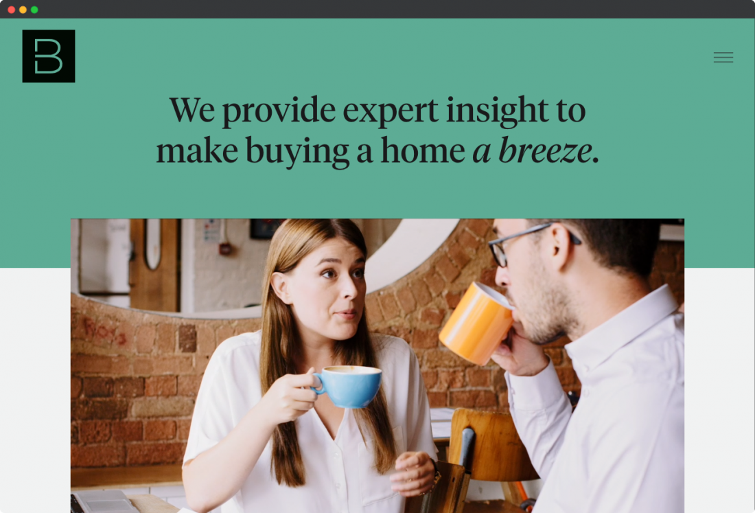 building a website for a real estate agent