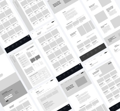Luxury Shares website wireframes