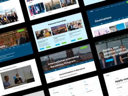 The Intern Group – website screenshots
