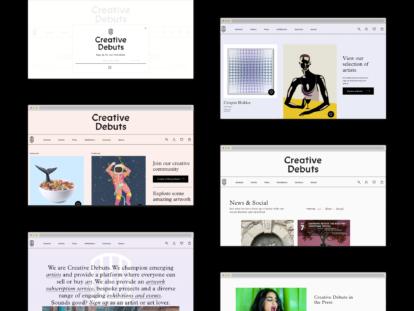 Creative Debuts website screenshot
