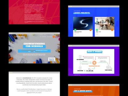 InvestMySchool – website screenshots