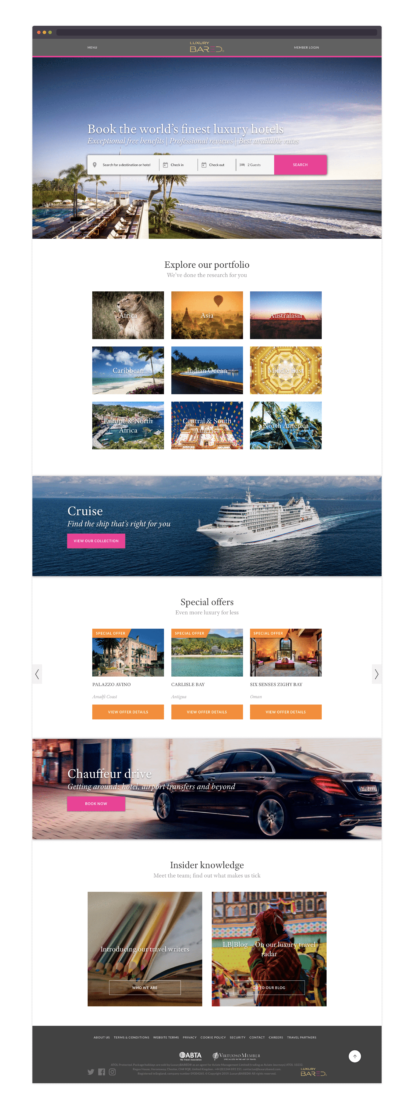 LuxuryBARED homepage