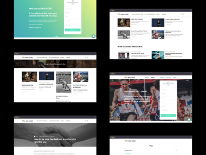 MEO Sport – website screenshots