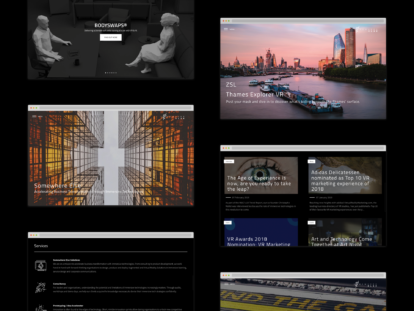 Somewhere else – website screenshots