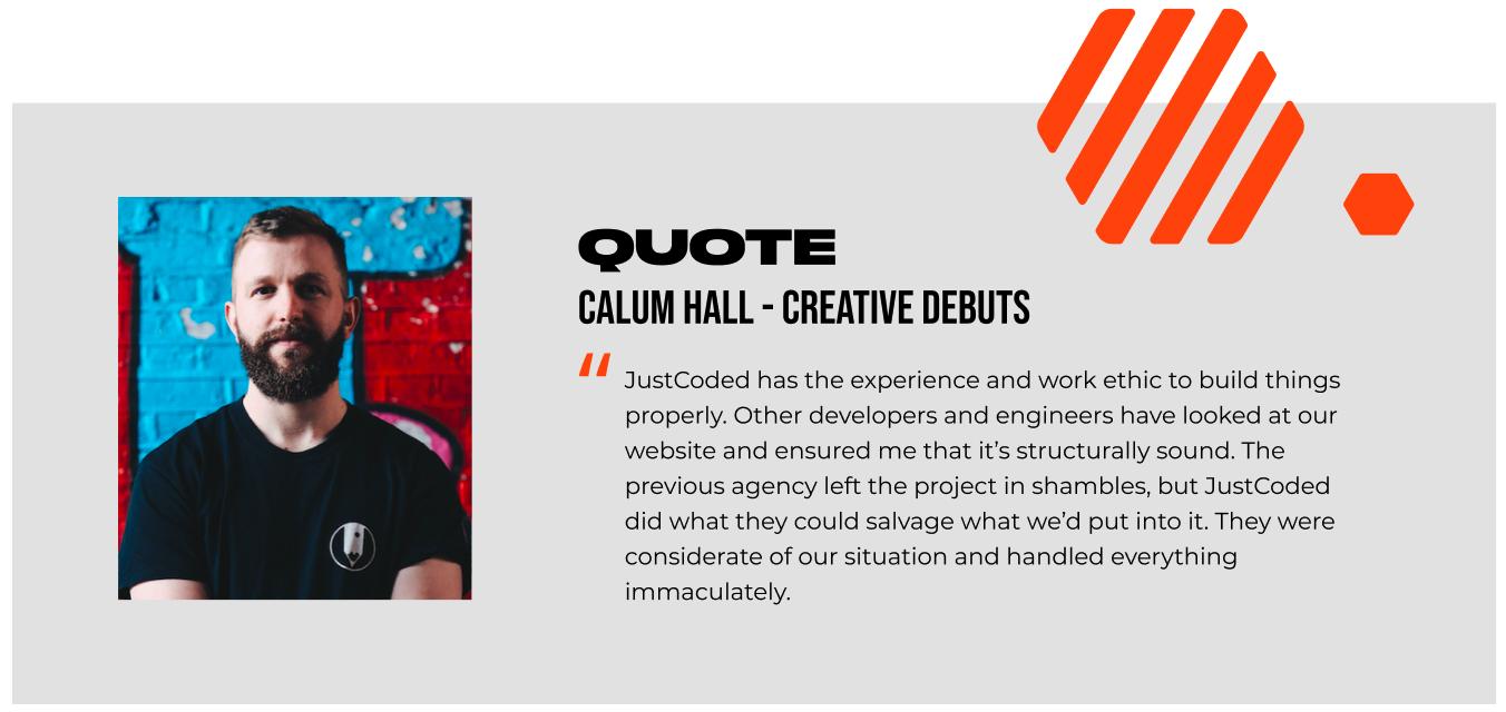 Creative Debuts feedback