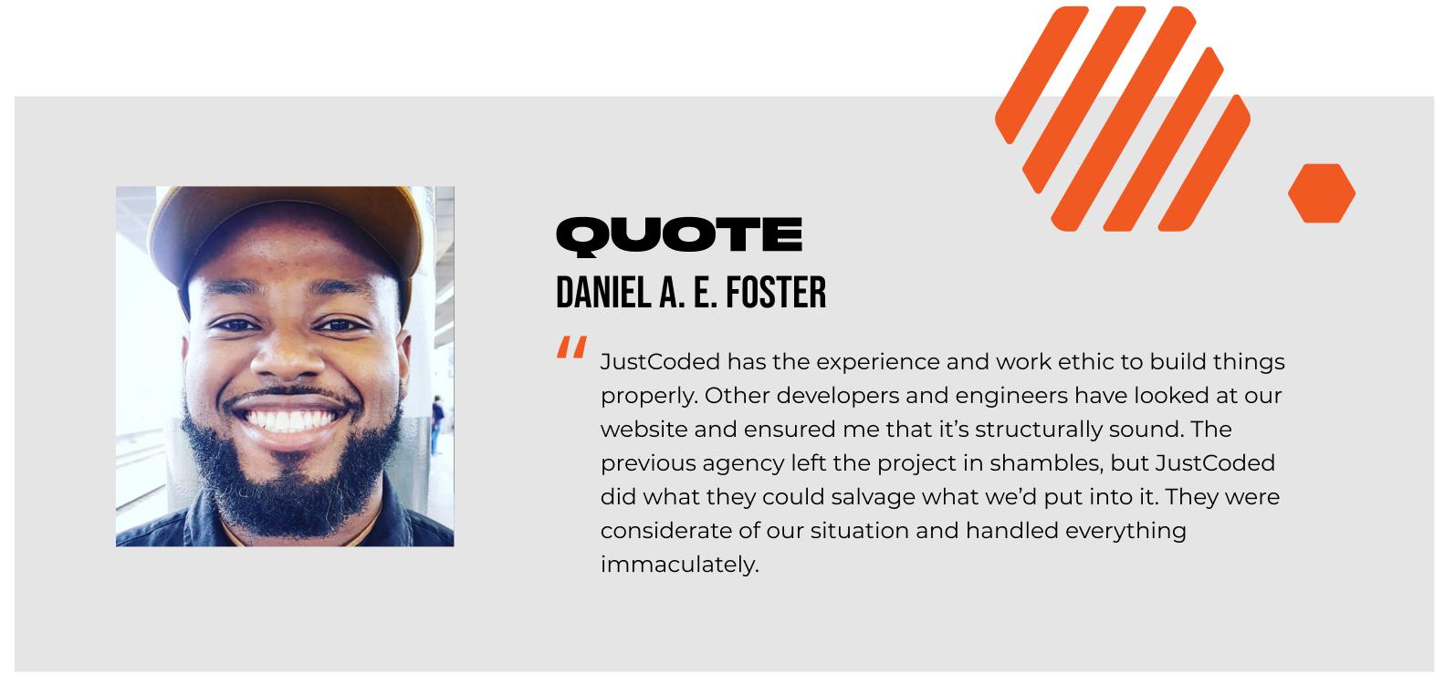 Daniel Foster's feedback