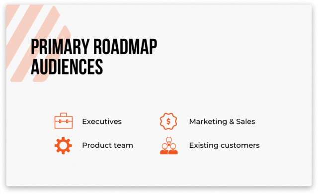 digital product roadmap audiences