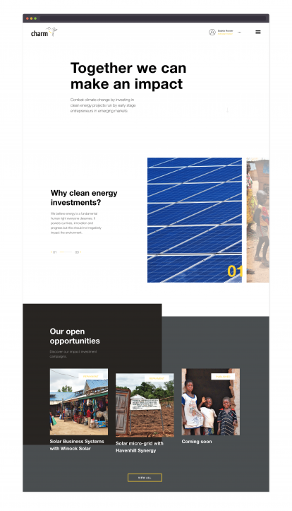 Charm impact homepage