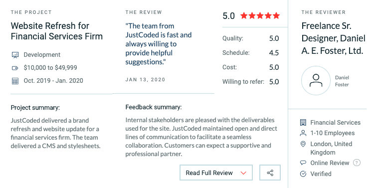 justcoded clutch reviews
