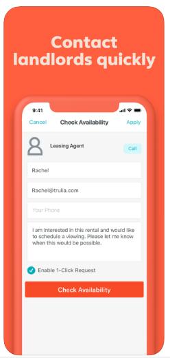 rental search app development