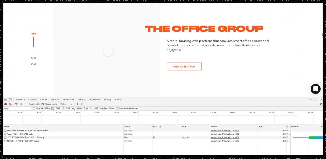 lazy loading website optimisation