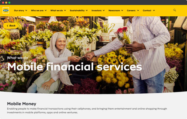 MTN mobile financial services