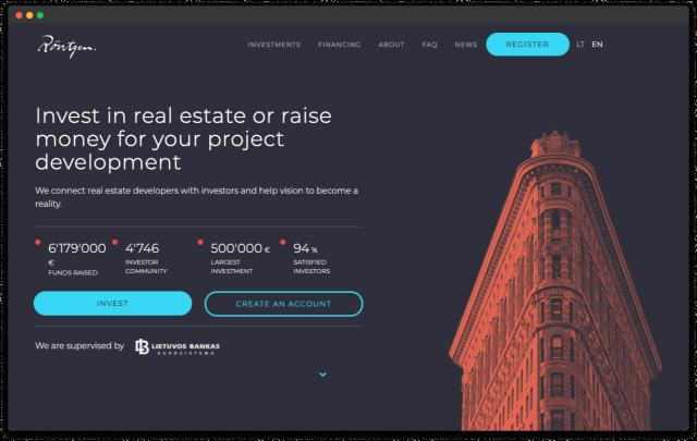 crowdfunding platform design rontgen