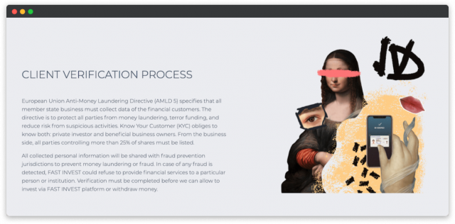 fastinvest crowdfunding platform design kyc
