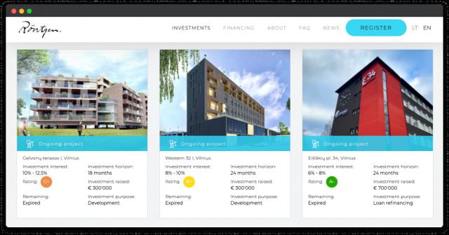 rontgen crowdfunding website design