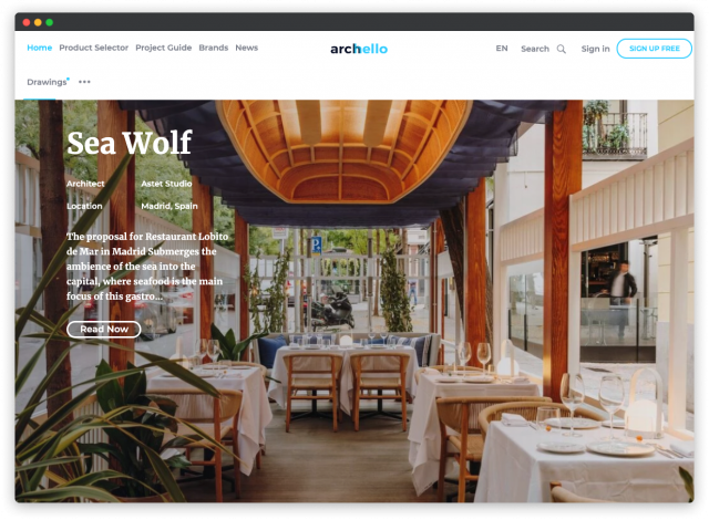 archello social platform for designers and architects
